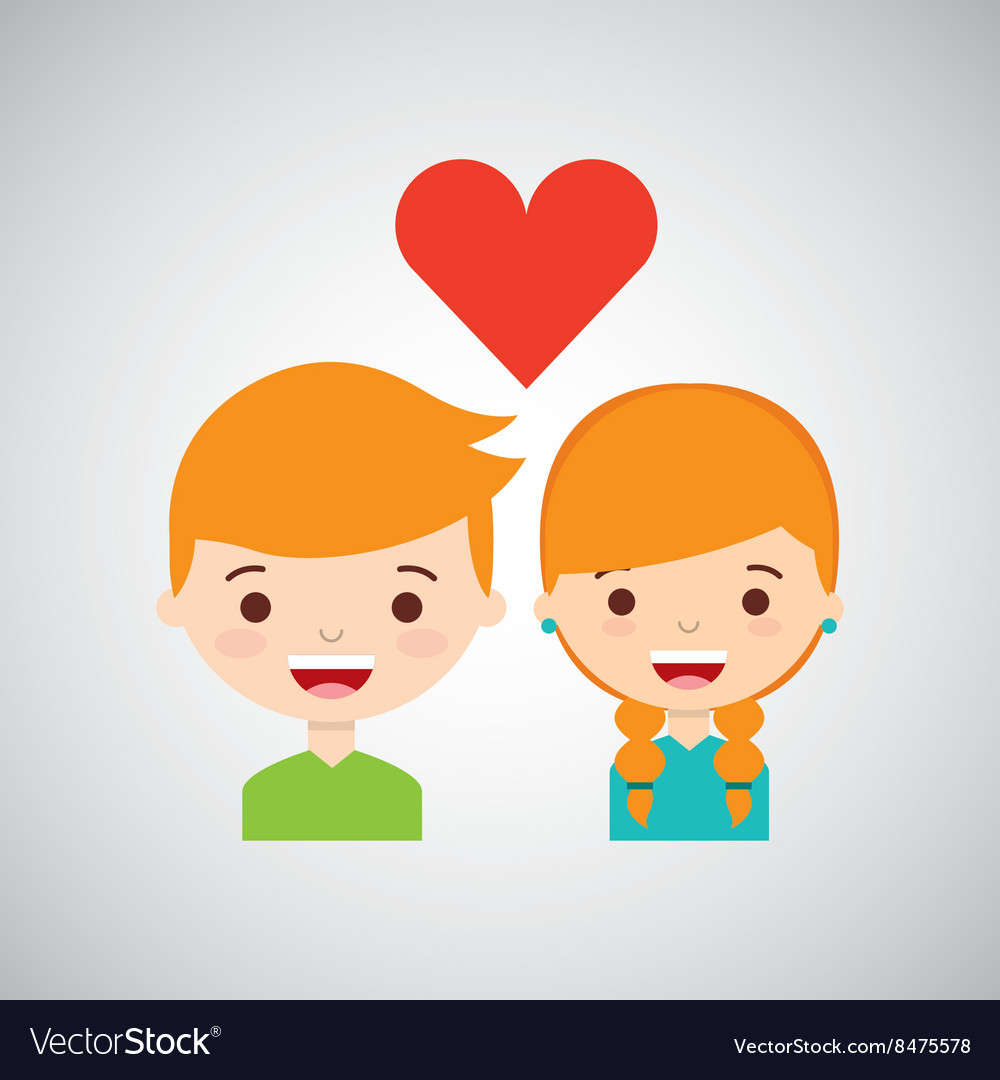 Loving couple design vector