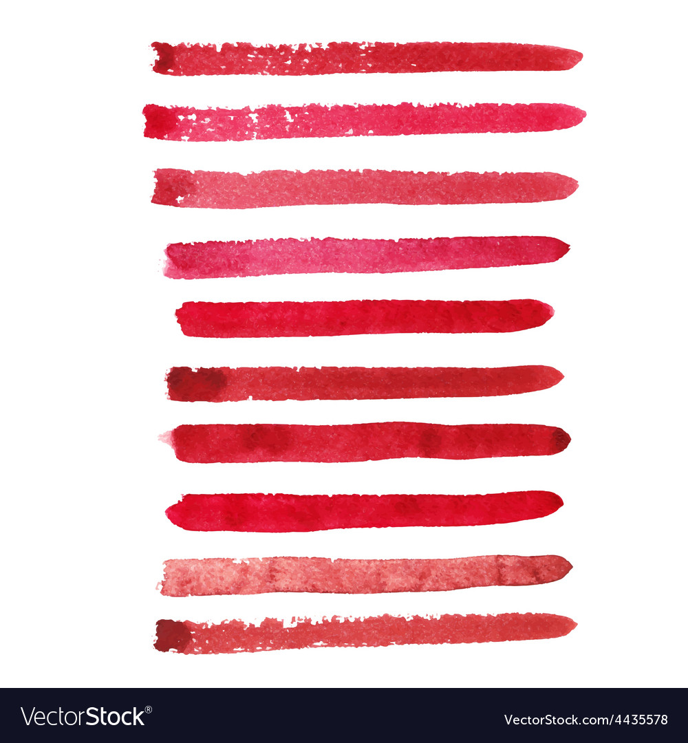 Set of marsala color brush strokes vector