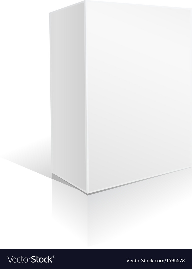 White general box vector