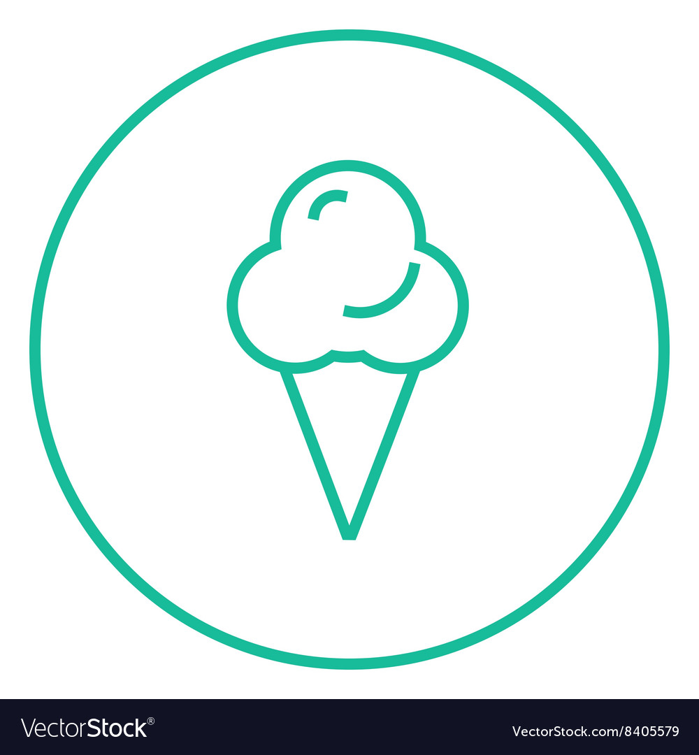 Ice cream line icon vector