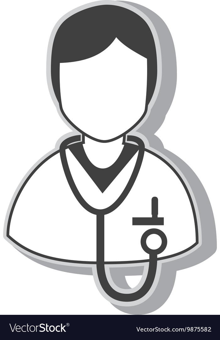 Doctor stethoscope profile vector