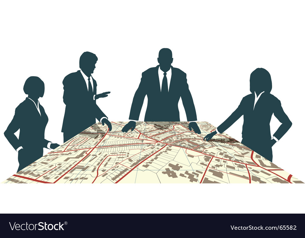 Town planners vector