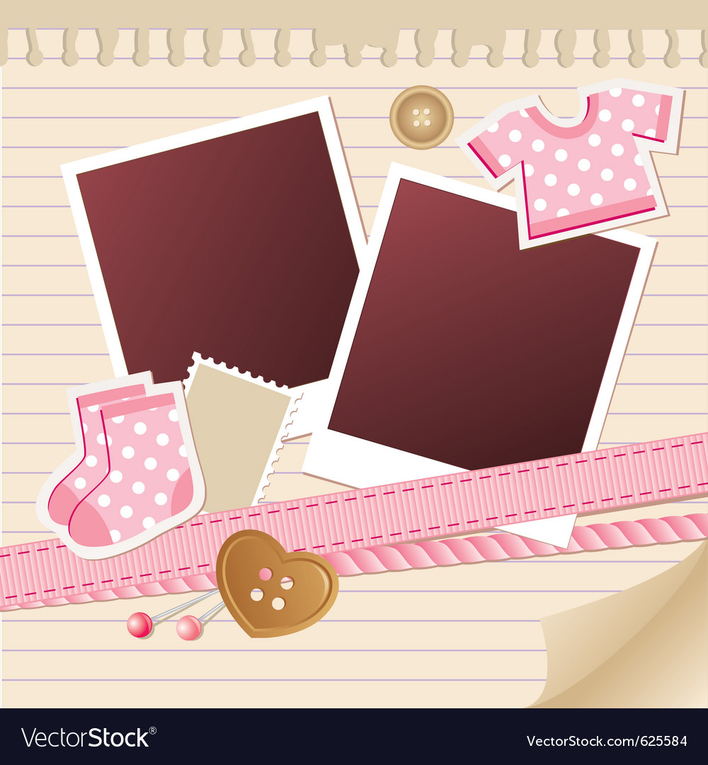 Baby frame for photos vector