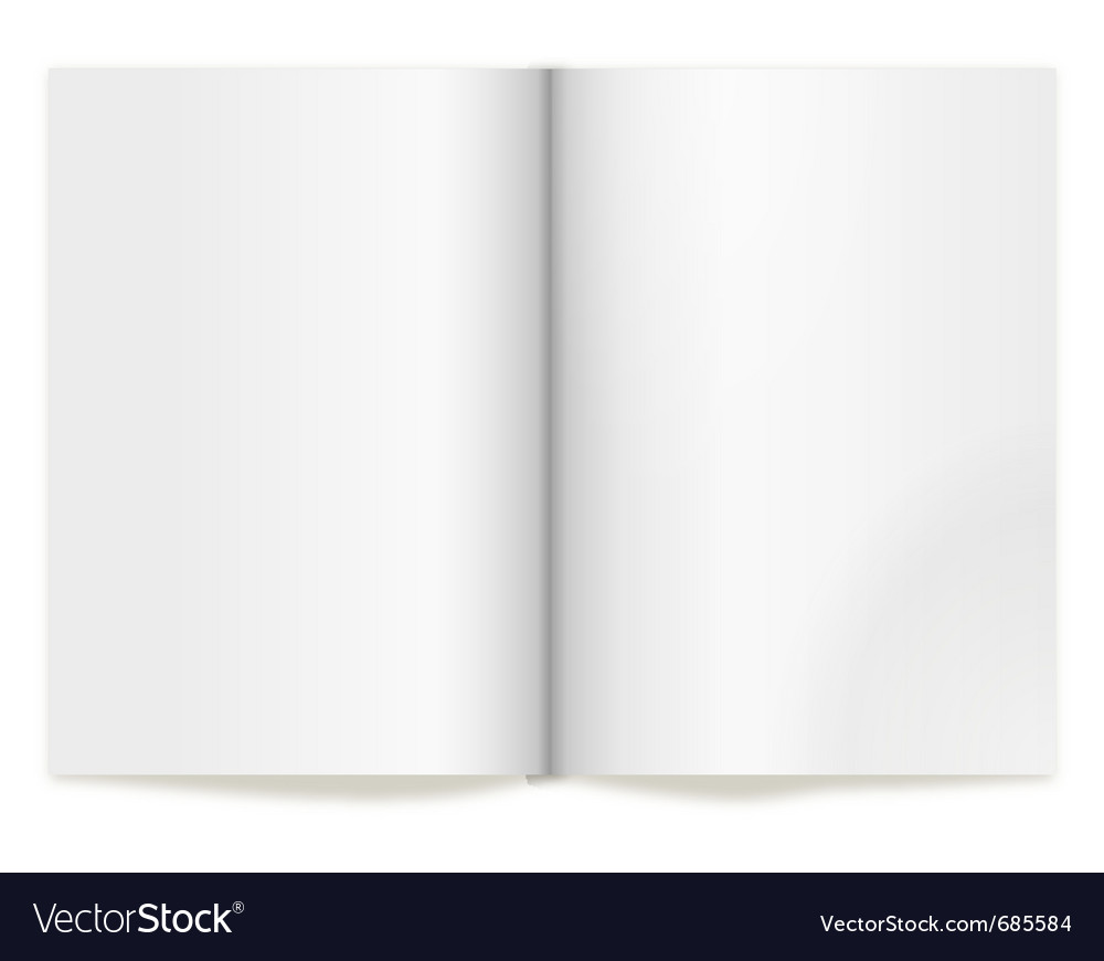 Book spread vector