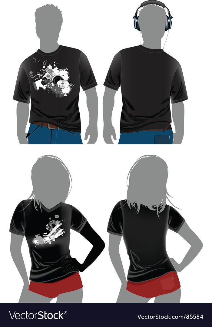 Tshirt design templates vector