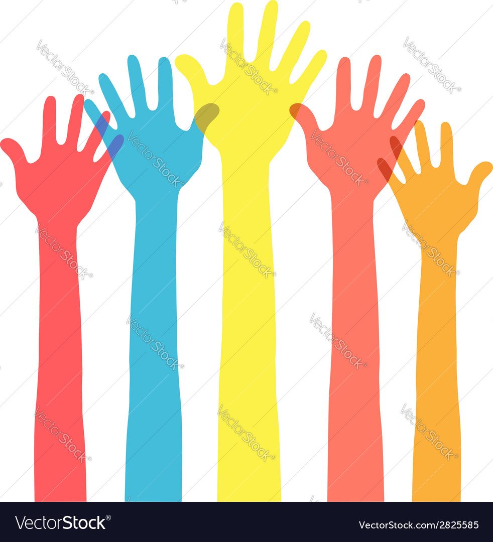 Hands in the air vector