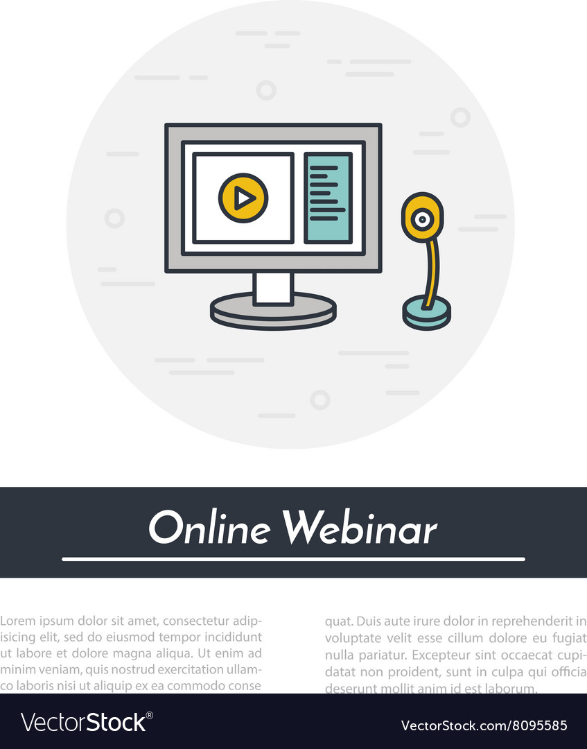 Outline of webinar online vector