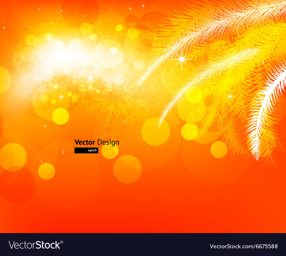 Bright orange christmas background vector