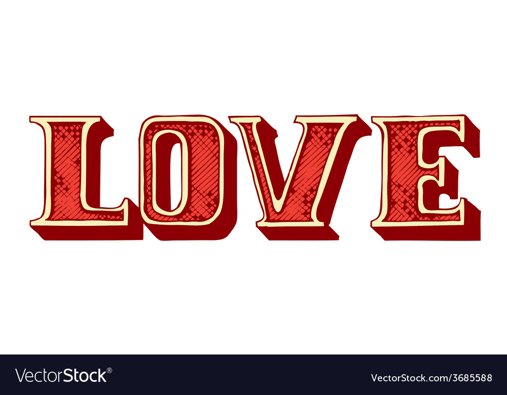 Handdrawn love lettering vector