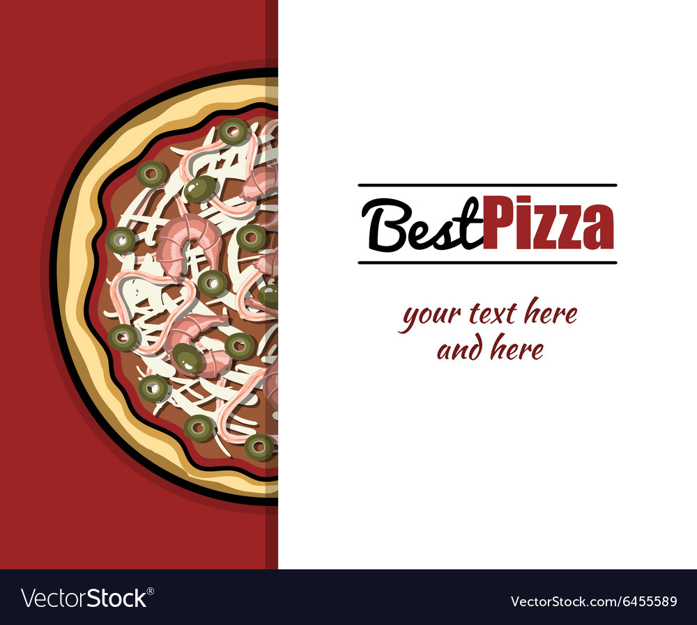 Menu for pizzeria 1 vector