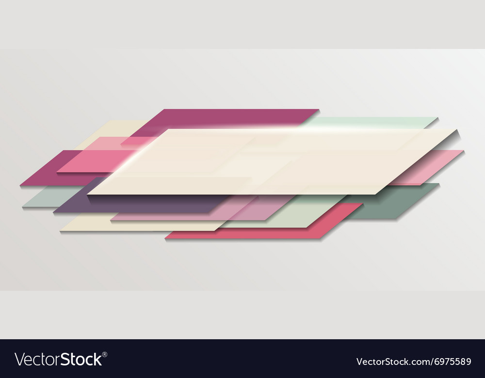Polygonal abstract shapes composition vector