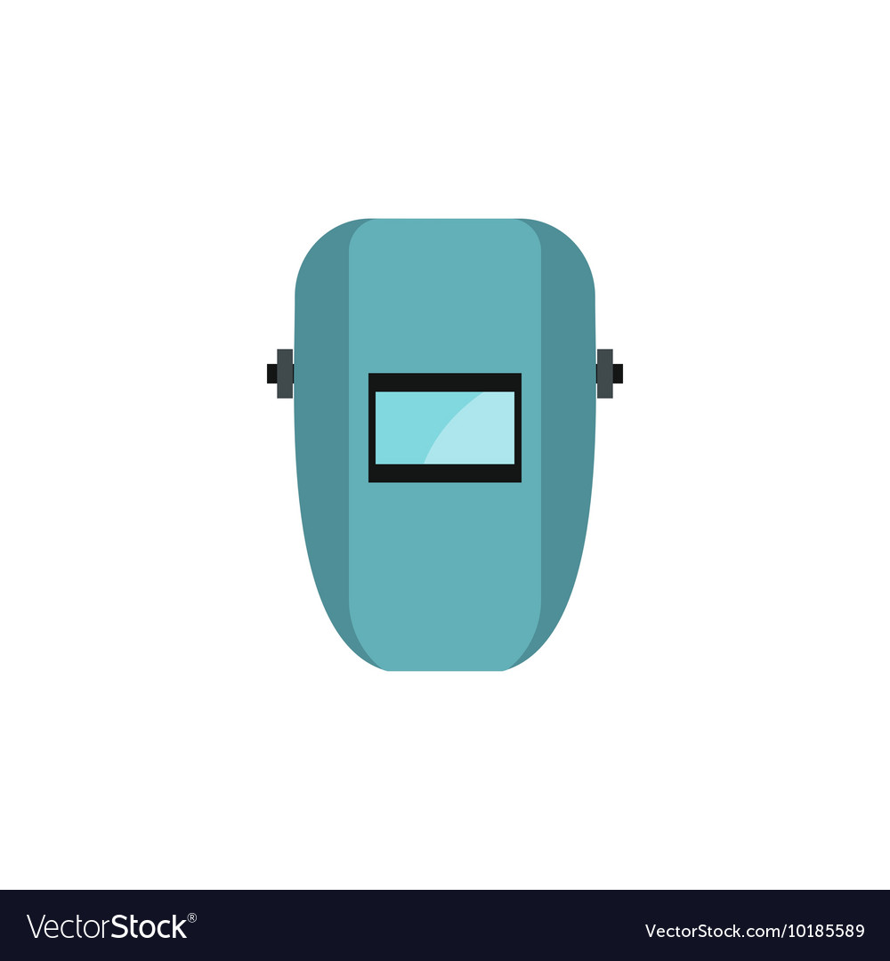 Welder mask icon flat style vector