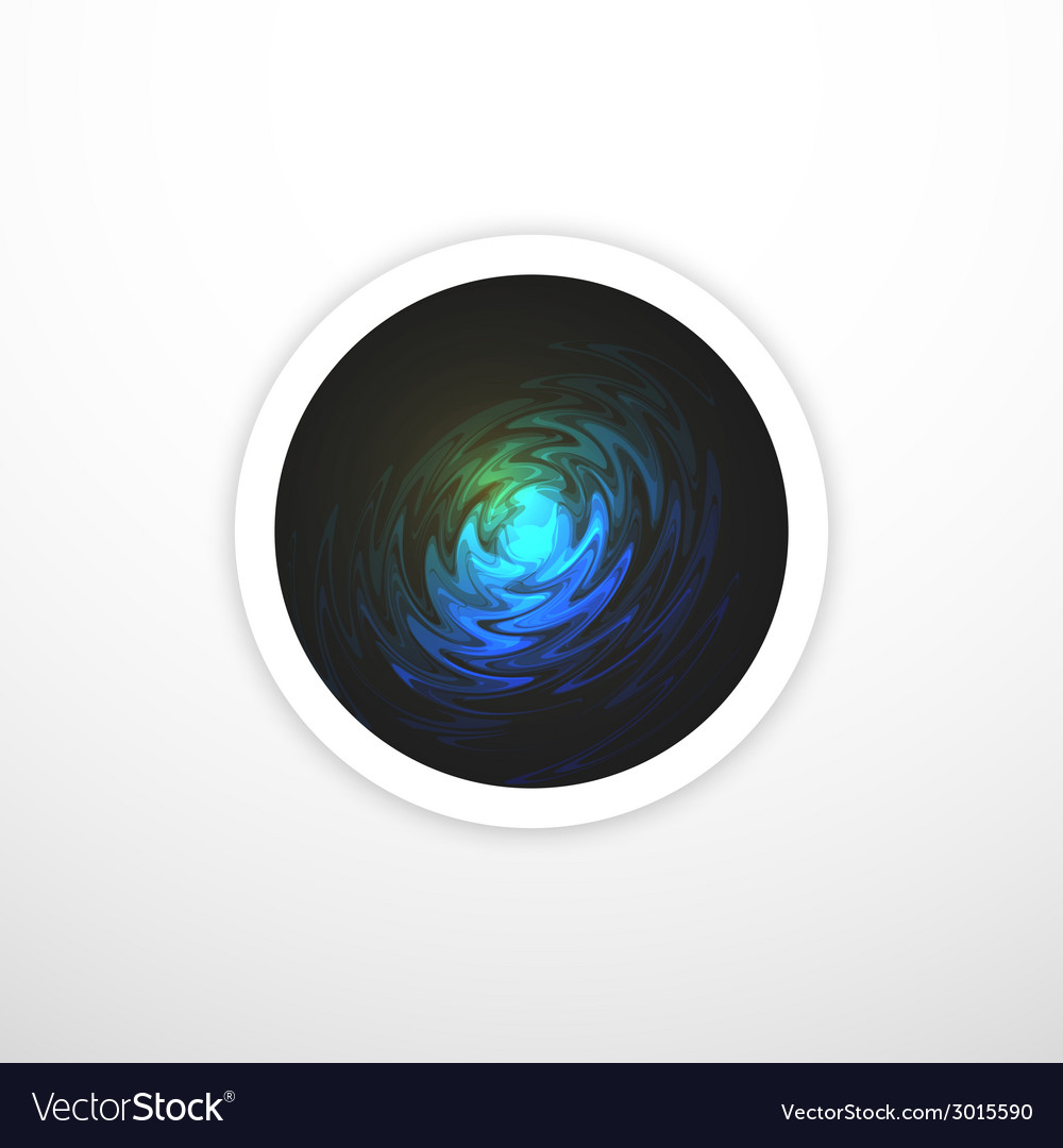Open gateway to space black hole background vector