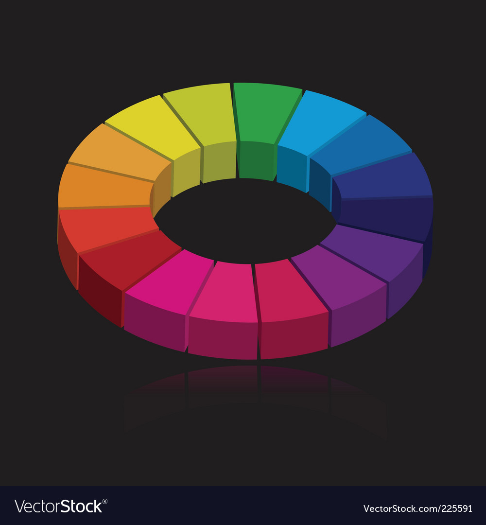 3d color wheel vector