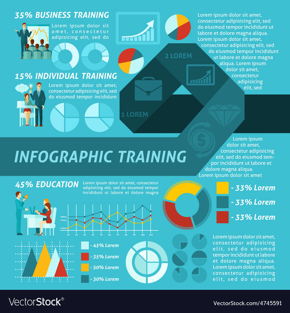 Business training infographics vector