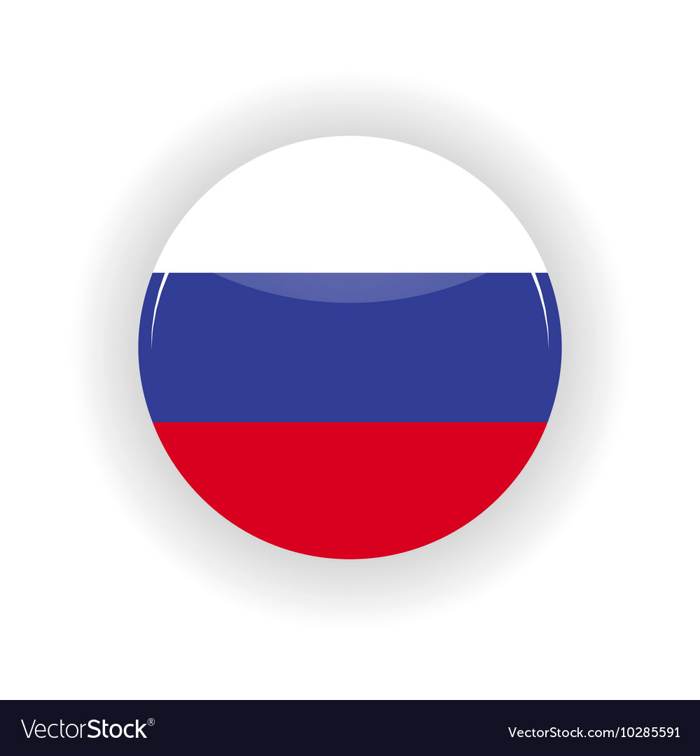 Russia icon circle vector