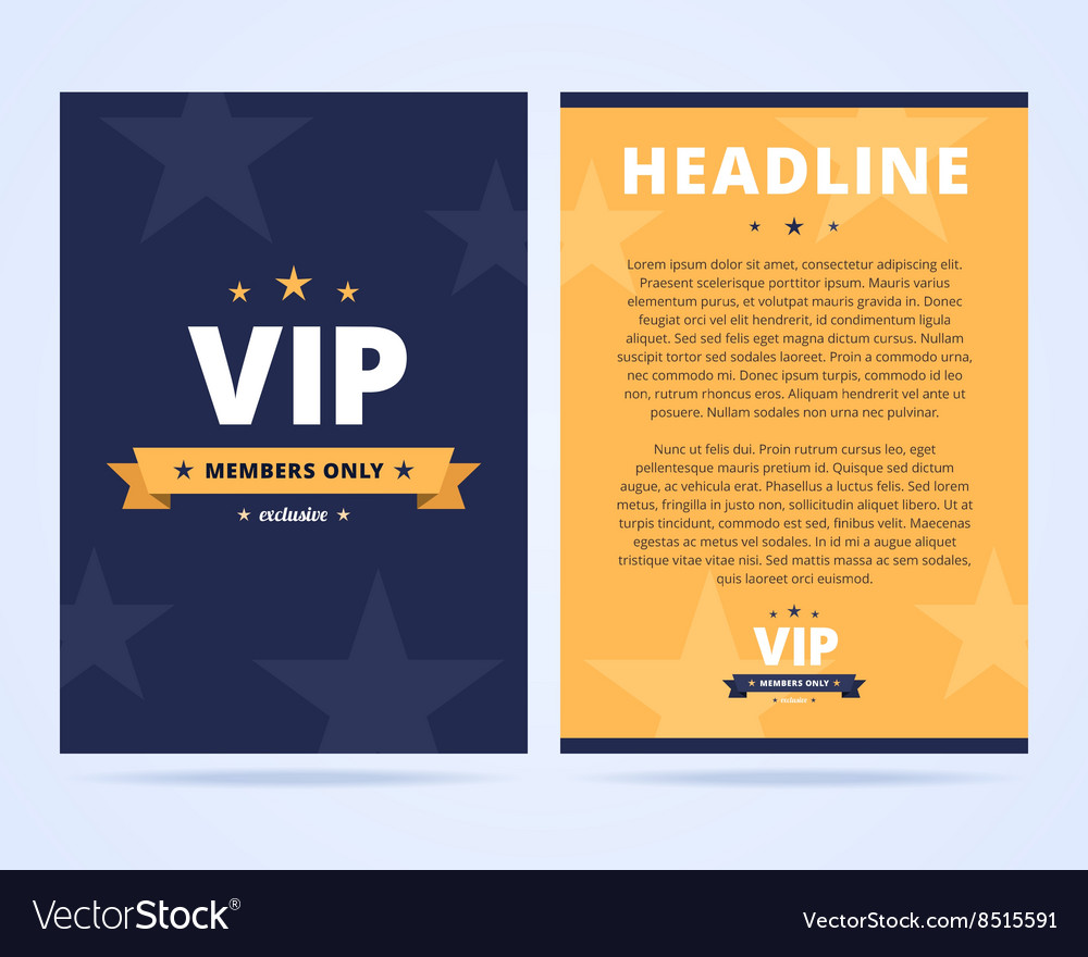 Vip club flyer layout vector