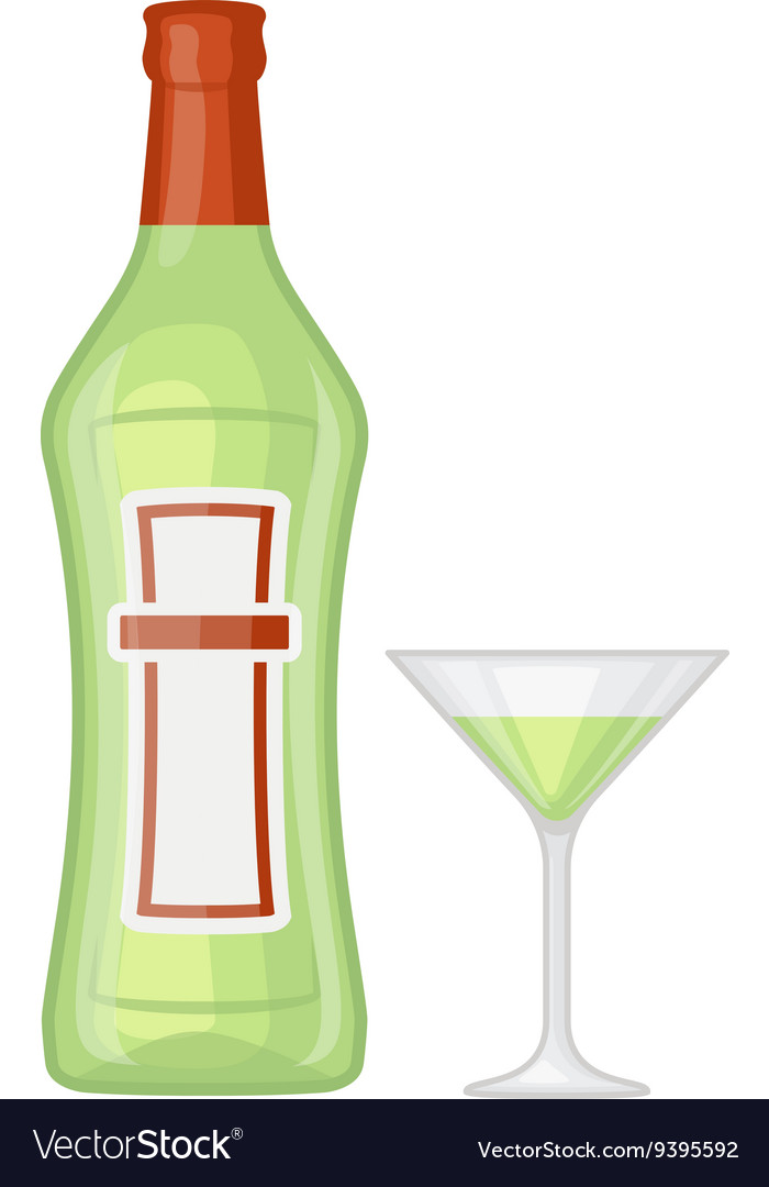 Martini bottle vector