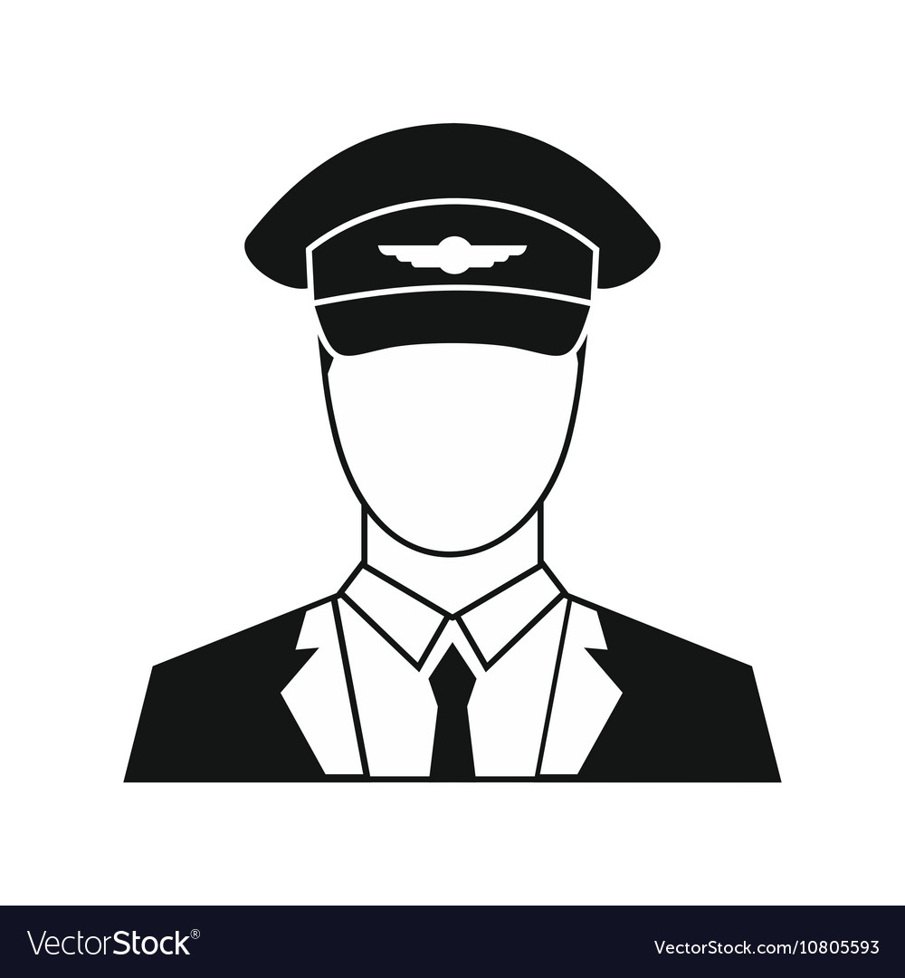 Pilot icon in simple style vector