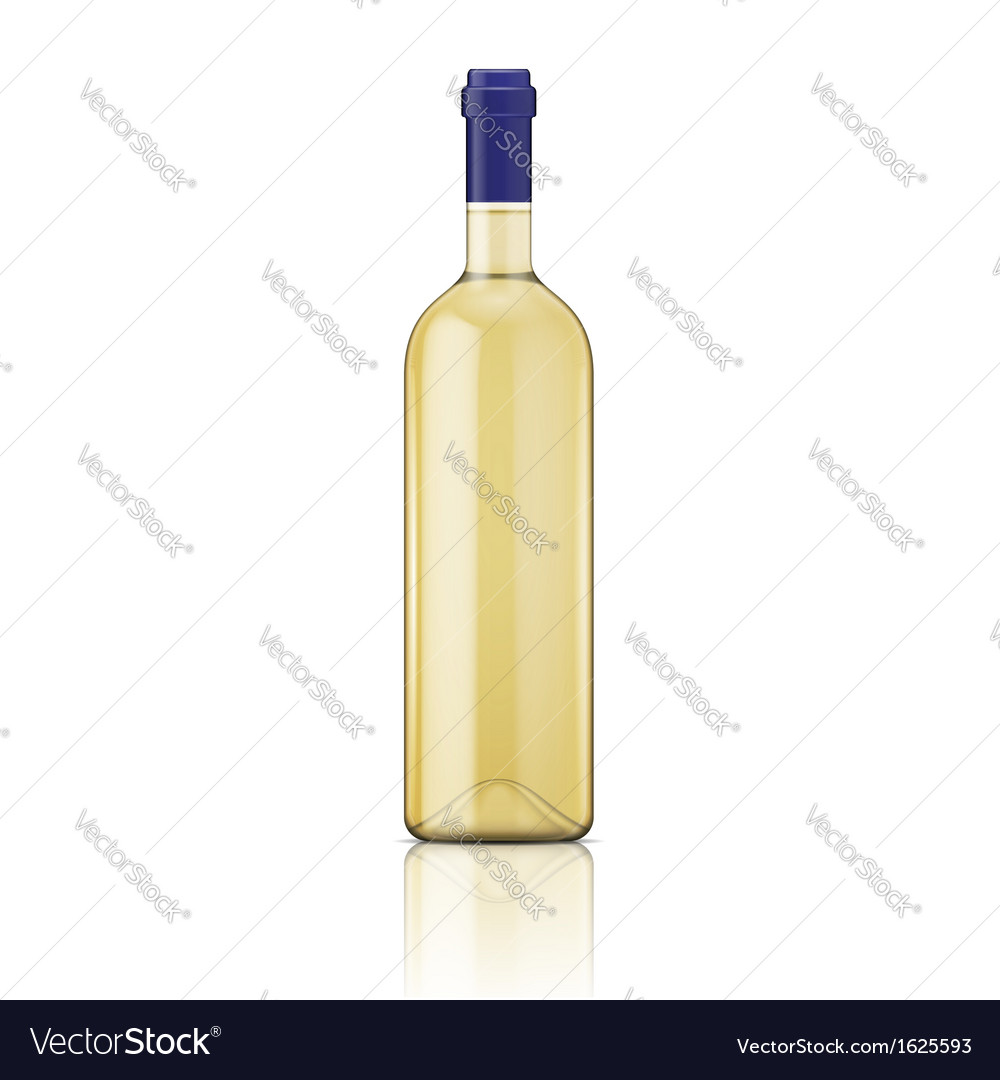 White wine bottle vector
