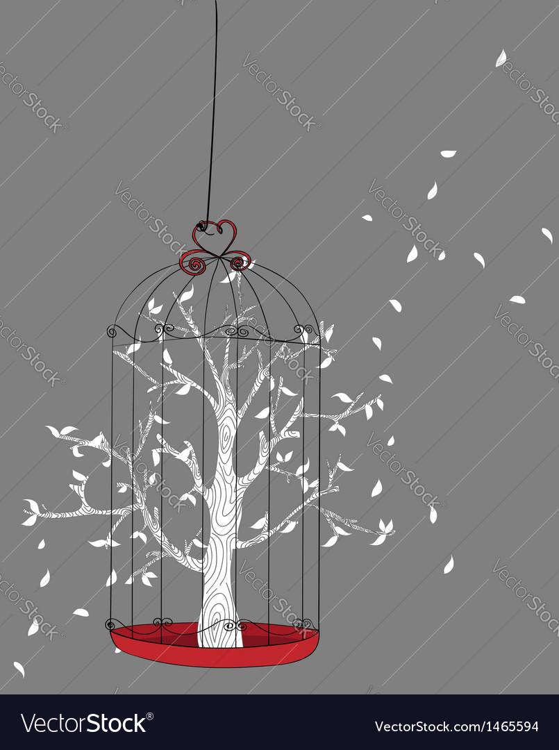 Freedom concept tree vector
