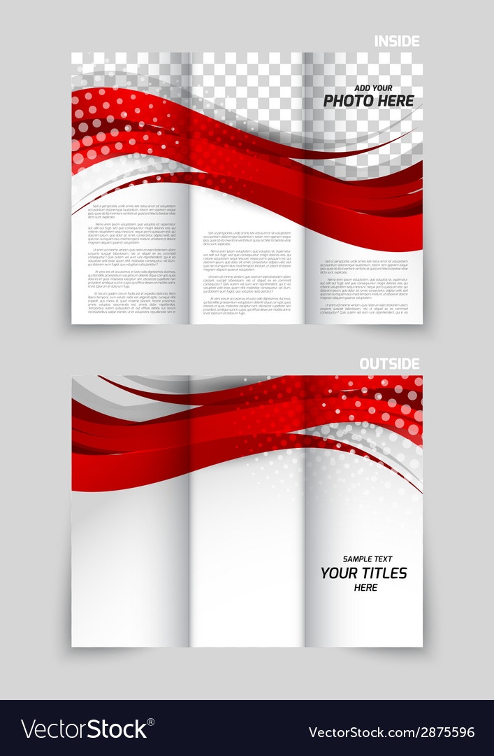 Trifold brochure template design vector