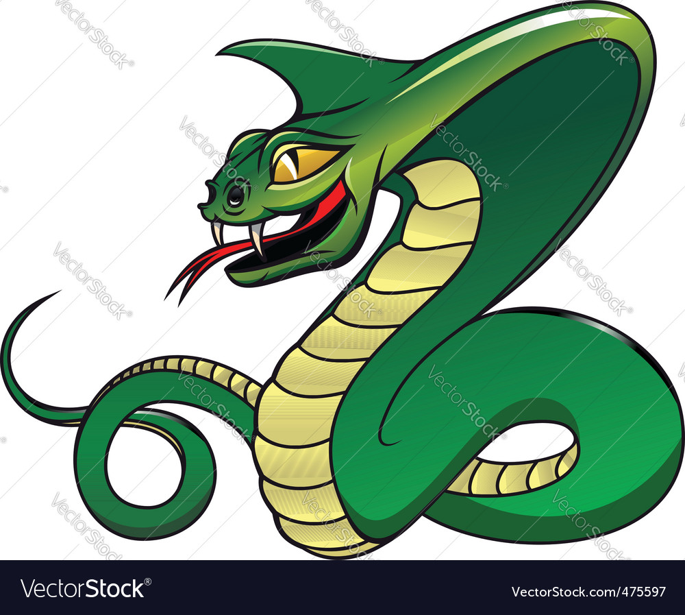 Danger green cobra vector
