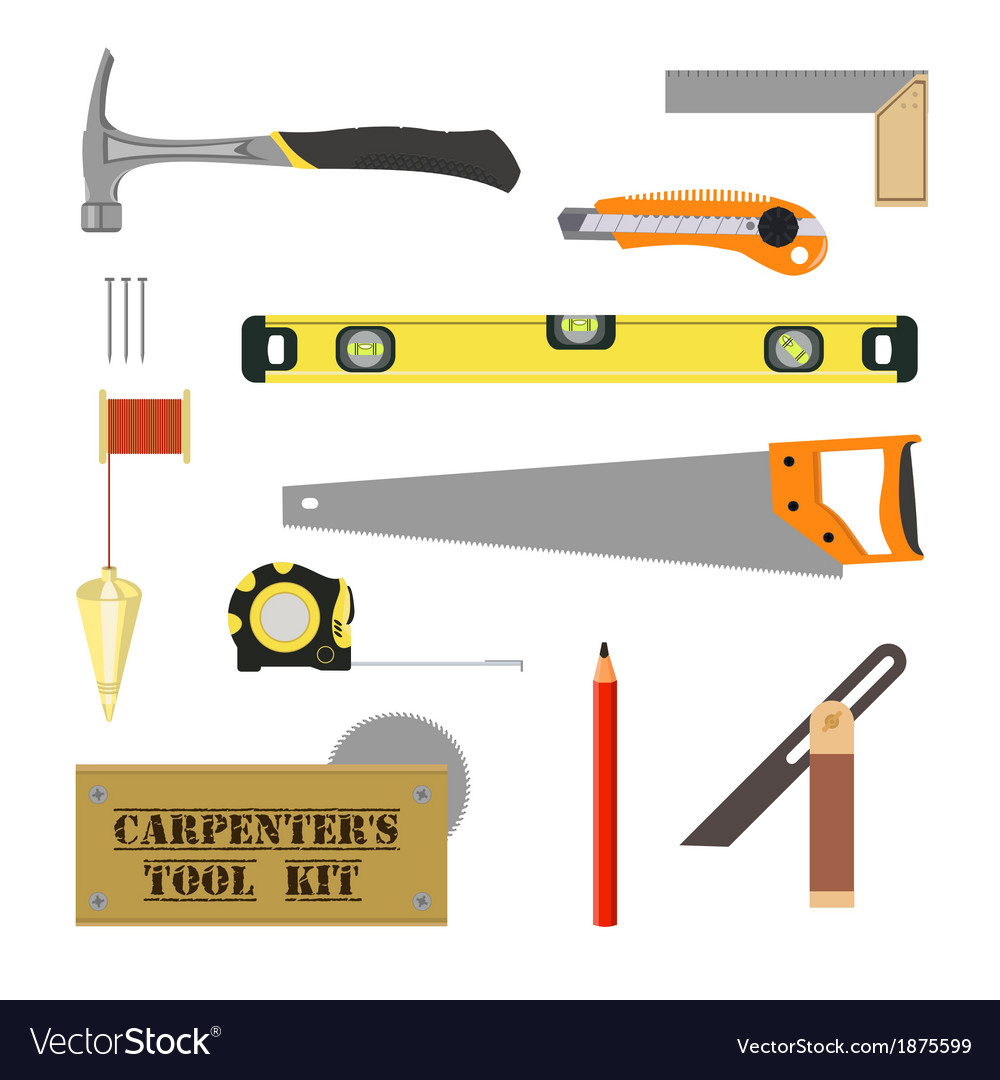 Carpenters tool kit vector
