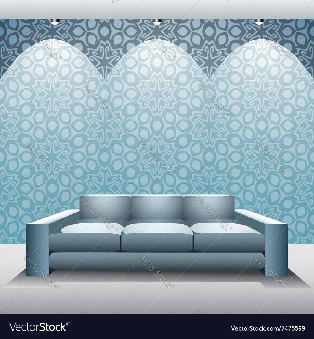 Modern furniture vector