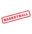 Basketball Text Rubber Stamp vector image vector image