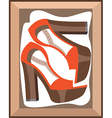Shoes in a box vector image vector image