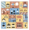 Urban facilities and people vector image vector image