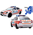swiss police car vector image vector image