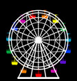 colorful ferris wheel from an amusement park vector image