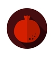 Garnet flat icon with long shadow vector image