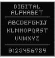 White digital alphabet vector image