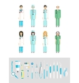 Dental set dentists instruments vector image