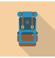 Backpack front view vector image