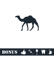Camel icon flat vector image