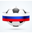 Football ball with Russian flag vector image