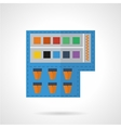 Paints colored icon vector image