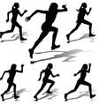 runner woman vector image