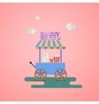 Sweet shop Wagon vector image