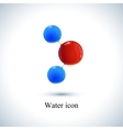 template water icon Molecule for medicine vector image