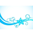 vector blue floral background vector image