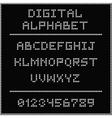 White digital alphabet vector image