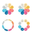 Circular infographics with 8 sections vector image