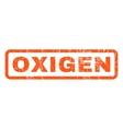 Oxigen Rubber Stamp vector image