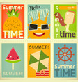 summer time posters set vector image