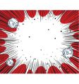 big bang background vector image vector image